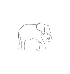 elephant flat icon vector image