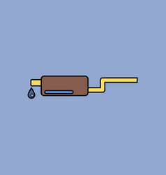 Flat icon design collection exhaust pipe and drop vector