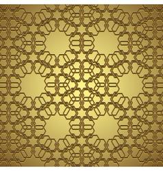 Golden circle ornament vector