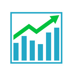 Growth graph business chart bar diagram vector