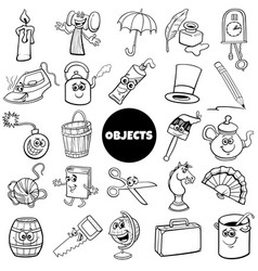 home related objects big set cartoon vector image