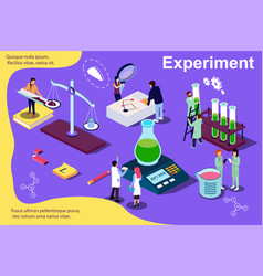 isometric concept experiment people vector image