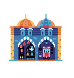 Istanbul egypt bazaar travel icon in flat vector