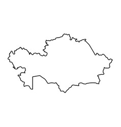 kazakhstan map of black contour curves of vector image