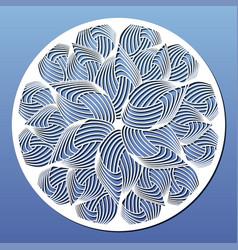 laser cut template round panel or mandala vector image