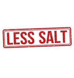 less salt sign or stamp vector image