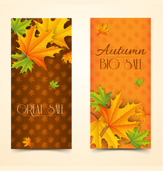 light autumn sale vertical banners vector image