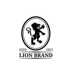 lion logo template luxury monogram vector image