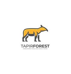 Logo tapir forest mascot cartoon vector