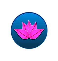 lotus icon logo seal design vector image