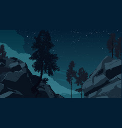 Mountain forest landscape vector