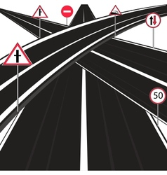 Much roads vector