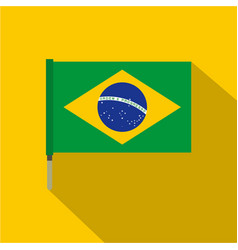 National flag of brazil icon flat style vector