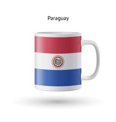 Paraguay flag souvenir mug on white background vector