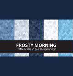 pentagon pattern set frosty morning seamless vector image