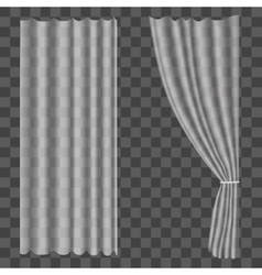 Realistic Curtains on Transparent Background vector