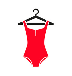 red swimsuit icon vector image
