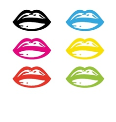 Retro lipstick traces set vector