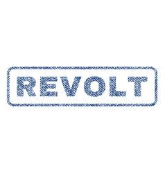 Revolt textile stamp vector