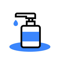 sanitizer alcohol gel icon vector image