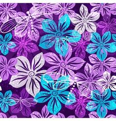 Seamless vivid floral spring pattern vector image
