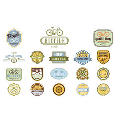Set of original bicycle themed emblems vector