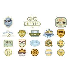 Set original bicycle themed emblems vector