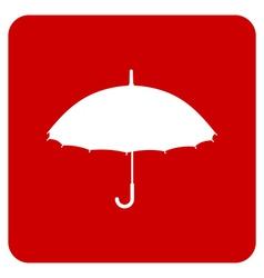 Silhouette umbrella vector image
