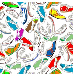Sport shoes vector
