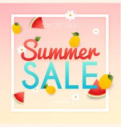 Summer sale banner poster flyer slices of vector