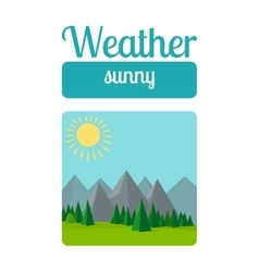 Sunny weather vector