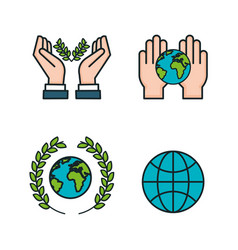 Symbols peace for international peace day icons vector