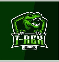 T-rex gaming esports logo vector