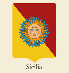 the symbol of the italian island of sicily vector image