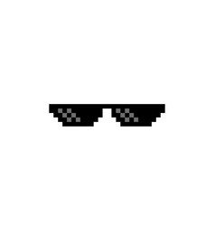 Thug life pixel art glasses vector