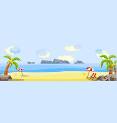 Tropical beach seaside party landscape vector