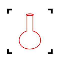 tube laboratory glass sign red icon vector image