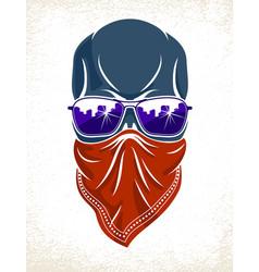 Urban stylish skull logo or icon aggressive vector
