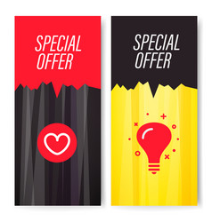 Vertical special offer banners set vector