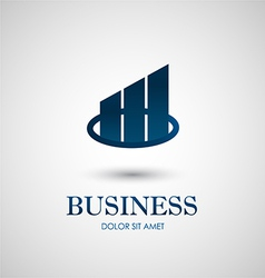 Abstract business icon design vector image vector image