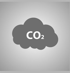 co2 emissions icon c02 cloud vector image