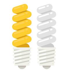 Energy saving light bulb icon flat style vector
