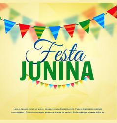 festa junina june festival of brazil design vector image