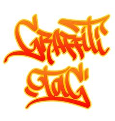 Graffiti tag vector image vector image