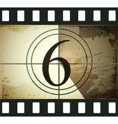 Grunge film countdown vector image