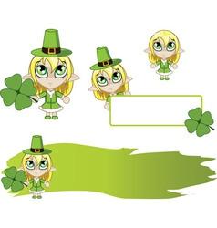 Little elf Green vector image vector image