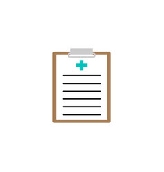 medical clipboard solid icon medical form vector image vector image