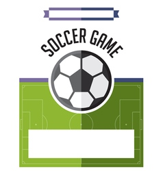 Soccer Football Game Flyer vector image