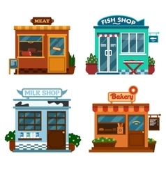 buildings that are shops vector image vector image