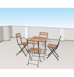 Chairs on terrace vector